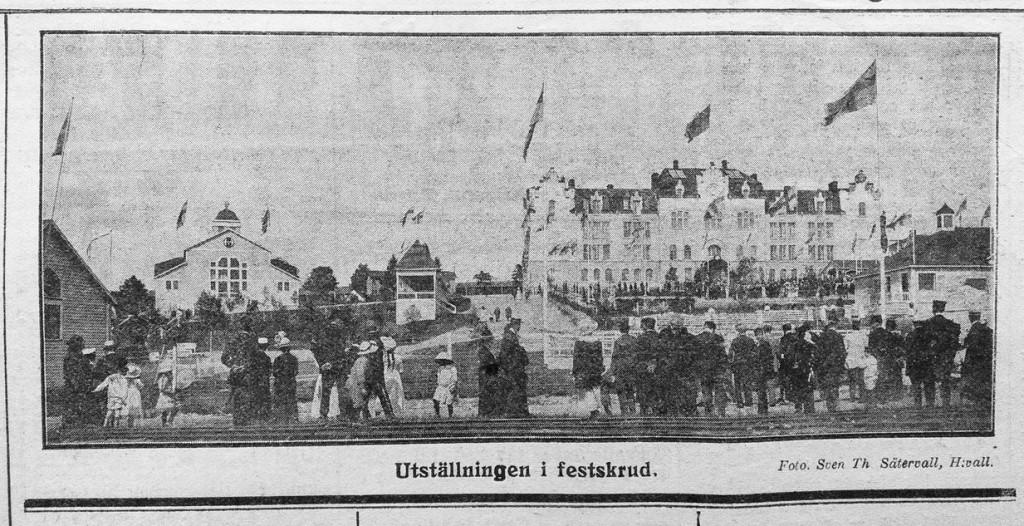 Bild av Sven Th. Sätervall från Hudiksvallsutställningen 1913 (Hudiksvallsposten 19 juni 1913)