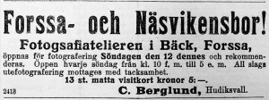 Hudiksvallsposten den 9 maj 1912.