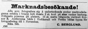 Hudiksvallsposten den 10 september 1912.