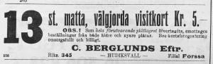 Hudiksvallsposten den 18 januari 1913.