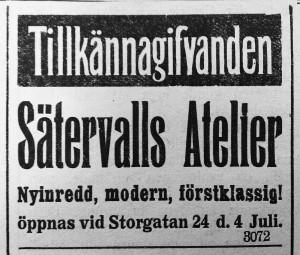Hudiksvallsposten den 26 juni 1915.
