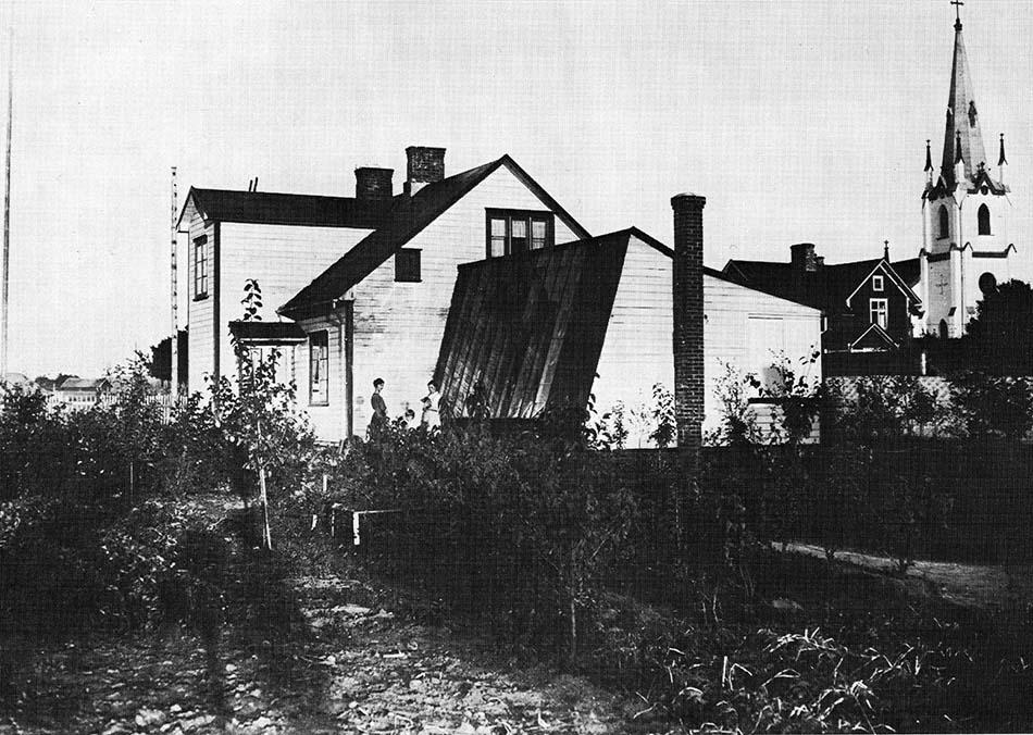 Sätervalls ateljé och bostad på Kyrkogatan 11 i Kinna (Föreningsarkivet i Mark)