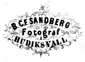 B.C.F. Sandberg, visitkort Typ 2 märke
