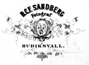 B.C.F. Sandberg, visitkort Typ 4 märke