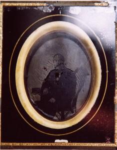 "Ambrotyp ""Pehr Eriksson i Wik Fotgr. 27 okt 1860"", 151 x 127 mm (Hälsinglands Museum, HM22219)"
