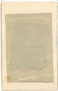 Monterad ferrotyp, baksida (Hälsinglands Museum)
