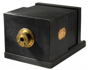 Daguerreotypkamera byggd av La Maison Susse Frères år 1839
