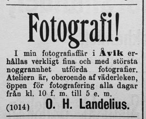 Hudiksvallsposten den 26 april 1890.