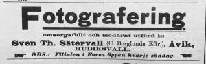 Hudiksvallsposten den 7 juni 1913.