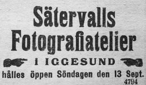 Hudiksvallsposten den 12 september 1914.