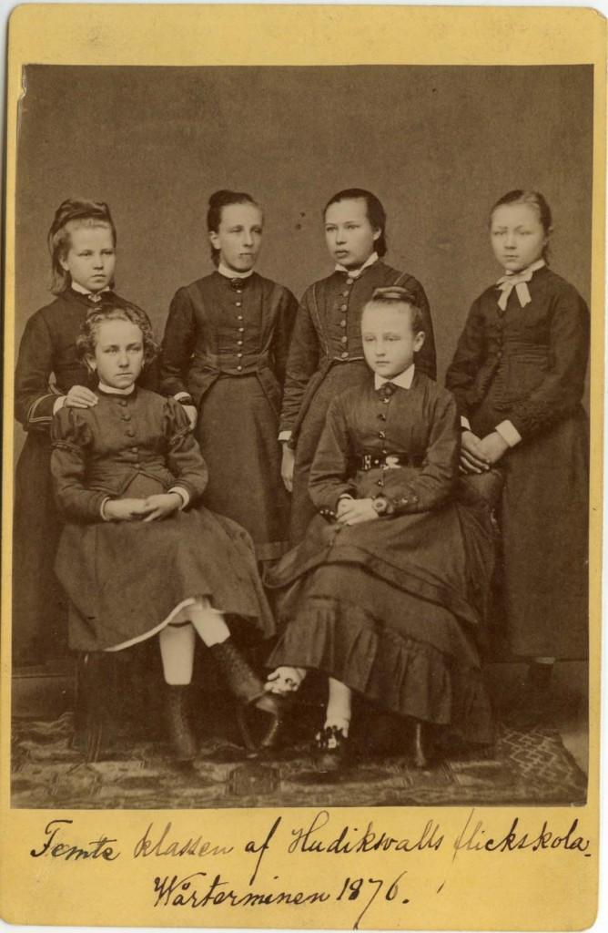 Kabinettkort av L.A.M. Nordström från år 1876 (Hälsinglands museum)