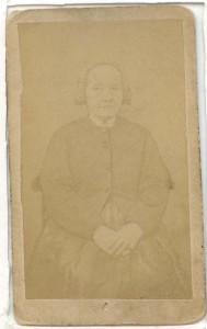 Blekt visitkort av albuminpapper, L.A.M. Nordström (privat)
