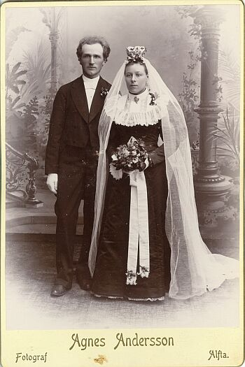 Agnes Andersson kabinettkort, 1896, PF88883.