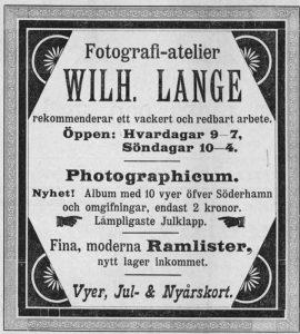 Söderhamns Tidning den 16 december 1898.