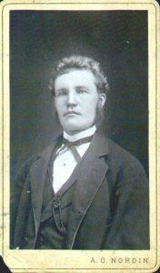 A.O. Nordin visitkort från Ljusdal (PF80357).