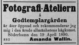 Söderhamns Tidning den 19 april år 1890.