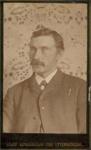 Olof Granholm visitkort Ytterhogdal (PF25896).