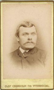 Olof Granholm visitkort Ytterhogdal (PF5816).