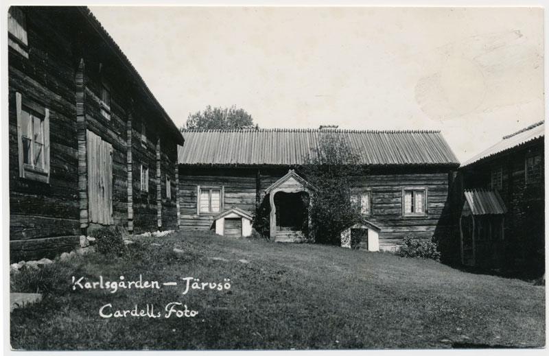 """Vykort """"Karlsgården - Järvsö"""", Cardell Foto."""