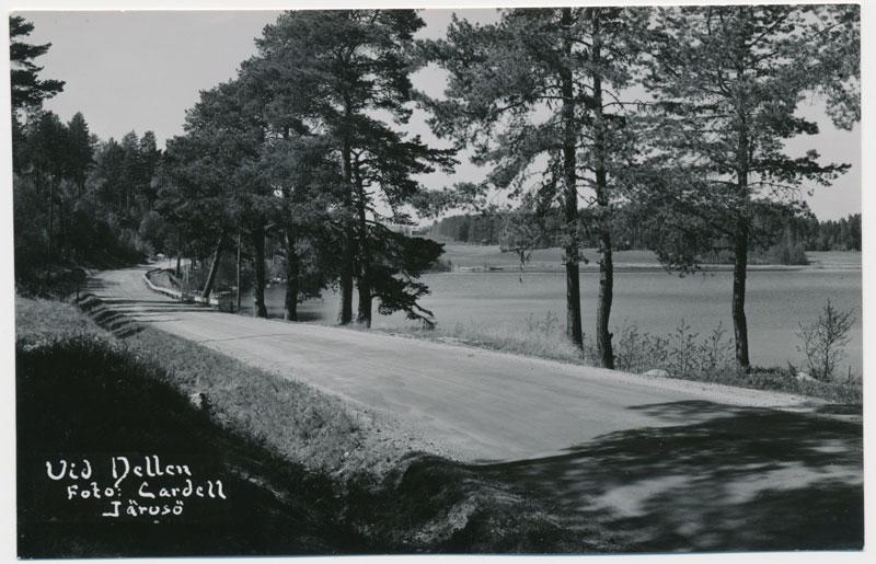"""Vykort """"Vid Dellen"""", foto: Cardell, Järvsö."""