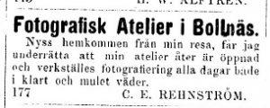 Bollnäs Tidning den 12 maj år 1877.