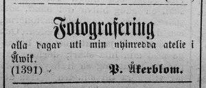 Hudiksvallsposten den 30 juni år 1883.