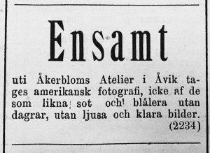 Hudiksvallsposten den 28 september år 1889.