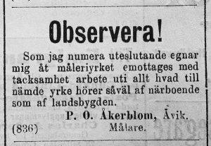 Hudiksvallsposten den 15 april år 1893.