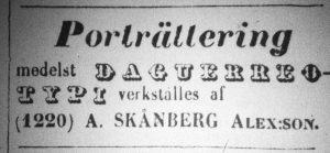 Norrlandsposten den 9 juli år 1857.