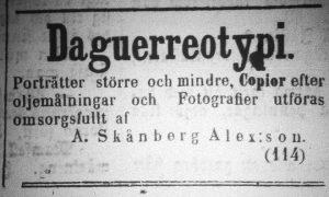 Norrlandsposten den 16 maj år 1859.