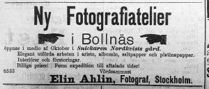 Söderhamnskuriren 28 september år 1900.