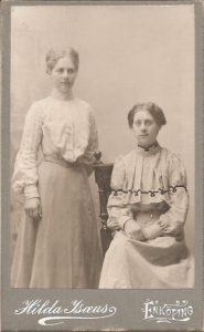 Hilda Isaeus visitkort Enköping (PF182226).