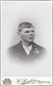 O. Sundberg visitkort Rättvik (PF183317).
