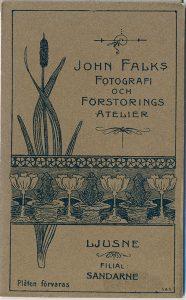 John Falk visitkort Ljusne, bak (P403_0006B).