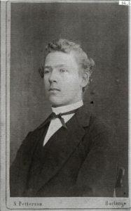 S. Petterson visitkort Borlänge (PF19025).
