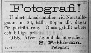 Söderhamns Tidning 26 juli 1884.
