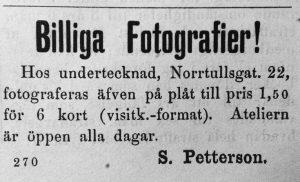 Söderhamns Tidning den 4 april 1885.
