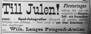 Söderhamns Tidning den 18 december 1893.
