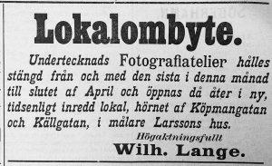 Söderhamns Tidning den 21 mars 1898.