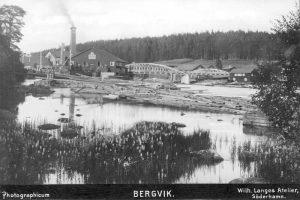"""""""Bergvik"""", """"Photographicum"""", Wilh. Langes Atelier, Söderhamn, Söderhamns Kust och Skärgårdsförening (DiBiS XBS00628)."""