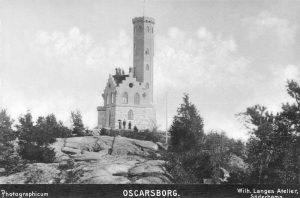 """""""Oscarsborg"""", """"Photographicum"""", Wilh. Langes Atelier,Söderhamn, Söderhamns Kust och Skärgårdsförening (DiBiS XBS00622A)."""
