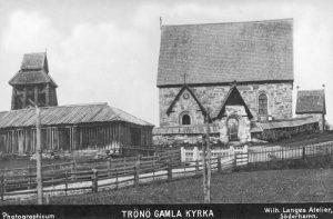 """""""Trönö gamla kyrka"""", """"Photographicum"""", Wilh. Langes Atelier, Söderhamn, Söderhamns Kust och Skärgårdsförening (DiBiS XBS00631)."""