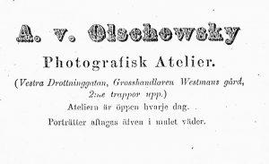 Annons i 1863 år adresskalender för Gävle.