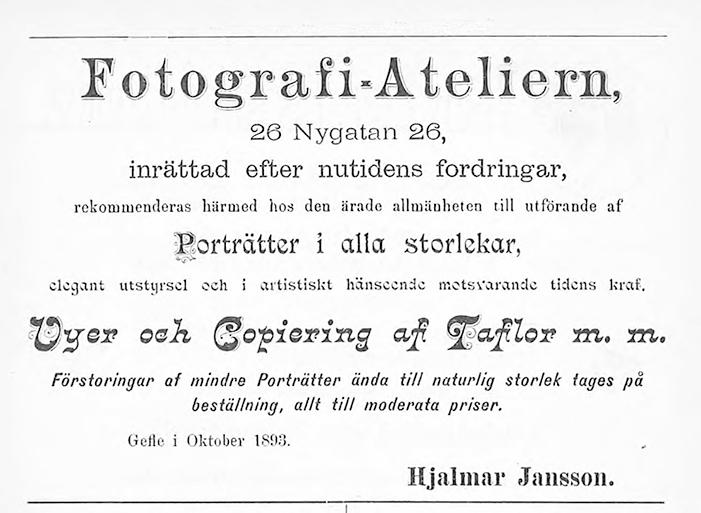 Gefleborgs Läns Kalender för 1893-1896.