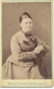 Hanna Bergdahl visitkort Gefle (PF135641).