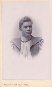 Hanna Bergdahl visitkort Gefle (PF207651).