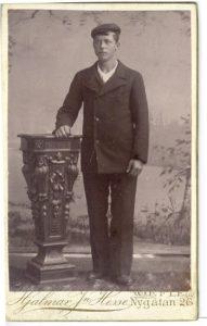 Hjalmar Jn Hesse visitkort Gävle (PF40051).