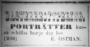 Norrlandsposten den 18 februari 1856.