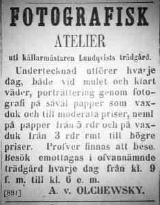 Norrlandsposten den 23 augusti 1860.