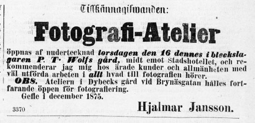 Norrlandsposten den 13 december 1875.